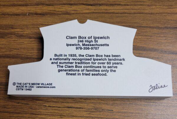 Clam Box of Ipswich flyer
