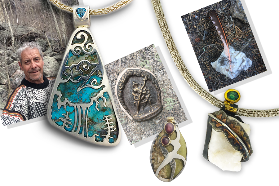 Kary is working on a collection of pieces inspired by the natural landscapes and phenomena of the Crestone area.