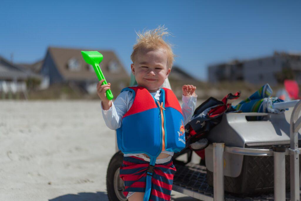 Breckenridge-Frisco Child and sandcastle