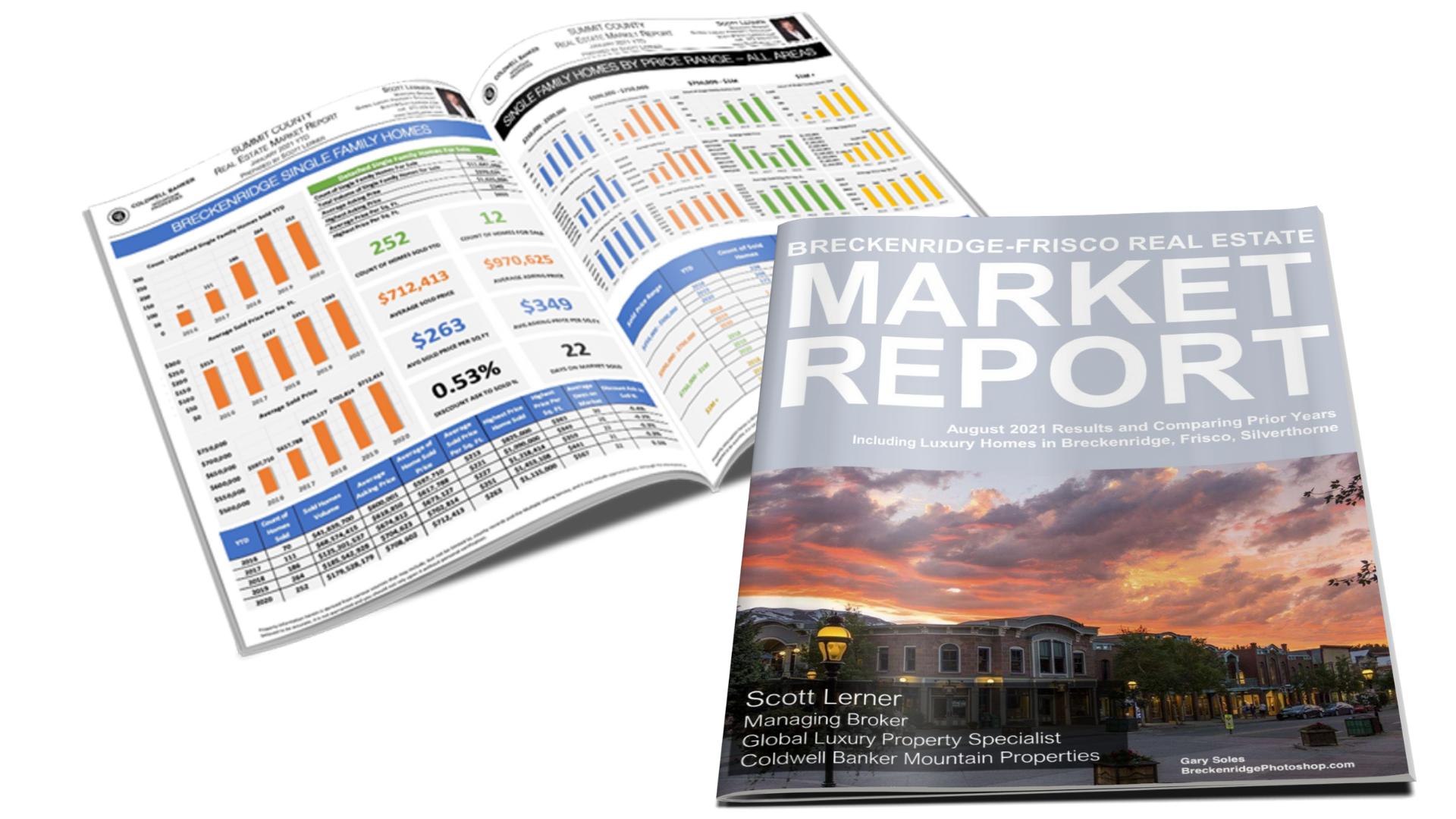 Breckenridge-Frisco Area Real Estate Market Report August 2021