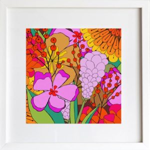 Fall Flowers Art Print by LeAnne Poindexter
