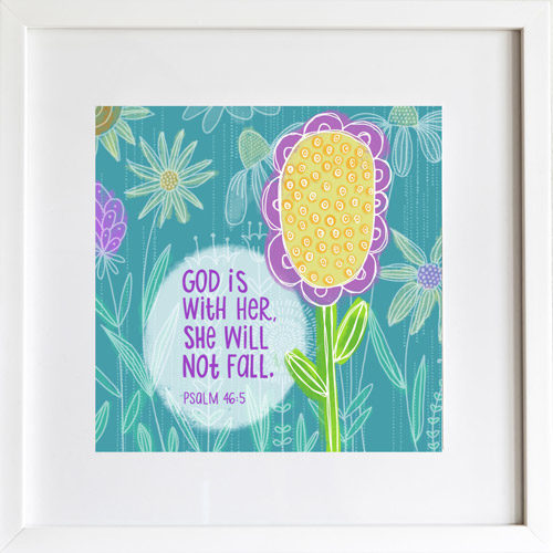 God is With Her - Art Print by LeAnne Poindexter