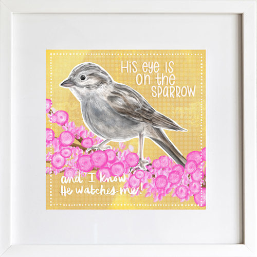 His Eye is on the Sparrow - Art Print by LeAnne Poindexter
