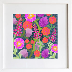 Jungle Flowers Art Print by LeAnne Poindexter