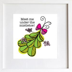 Meet Me Under the Mistletoe - Art Print by LeAnne Poindexter