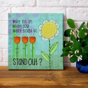 Why Fit In art print on canvas by LeAnne Poindexter
