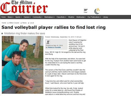lost ring found Milton