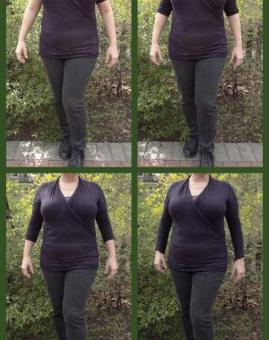 large chest flattering sleeve length