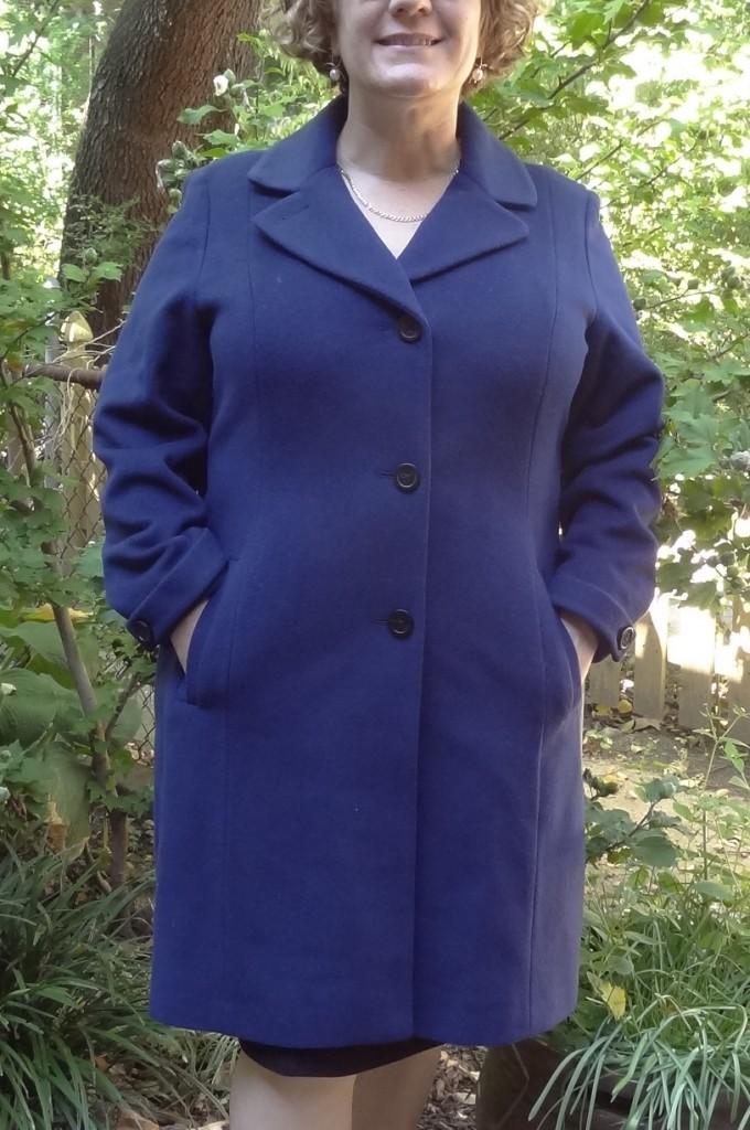 anne klein blue coat 2