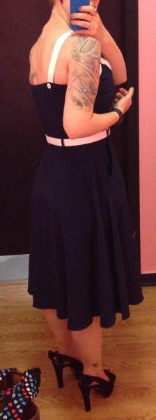 The straps laid over my Ewa Michalak bra straps perfectly!