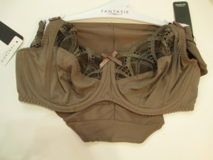 """Alex's new continuity brown color, """"Ombre."""" The blush pink is called """"Petal"""" and the former """"nude"""" color is now called """"Sand."""" Sizes 30–42 D–FF, 30–38 G–J."""