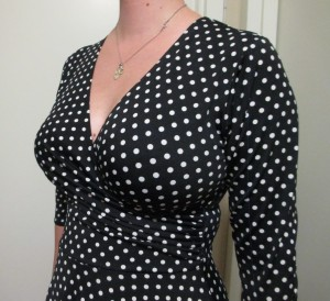 """I think the pattern helps keep from giving off the """"boob bifurcation"""" look that some ladies don't like."""