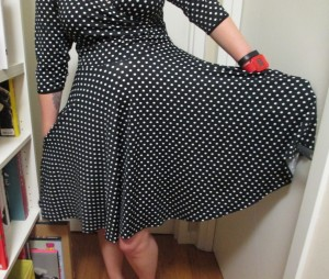 Another full circle skirt. Oh, and one thing I forgot to mention with the Carmen—pockets!! Both of these styles have hidden pockets big enough to stuff my whole hand in.