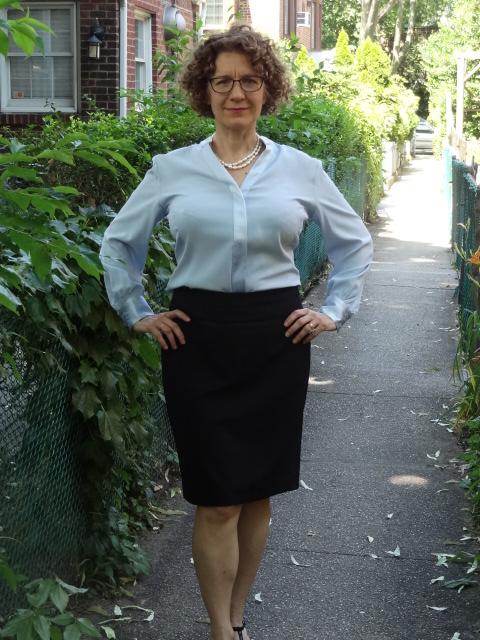 morefrontroom silk blouse unrolled front