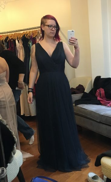 Finally! This one was definitely my favorite. It fit really beautifully. It's not a necessity, but I love that you can wear a regular bra with it.