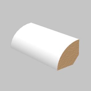 Quarter Round Laminated White
