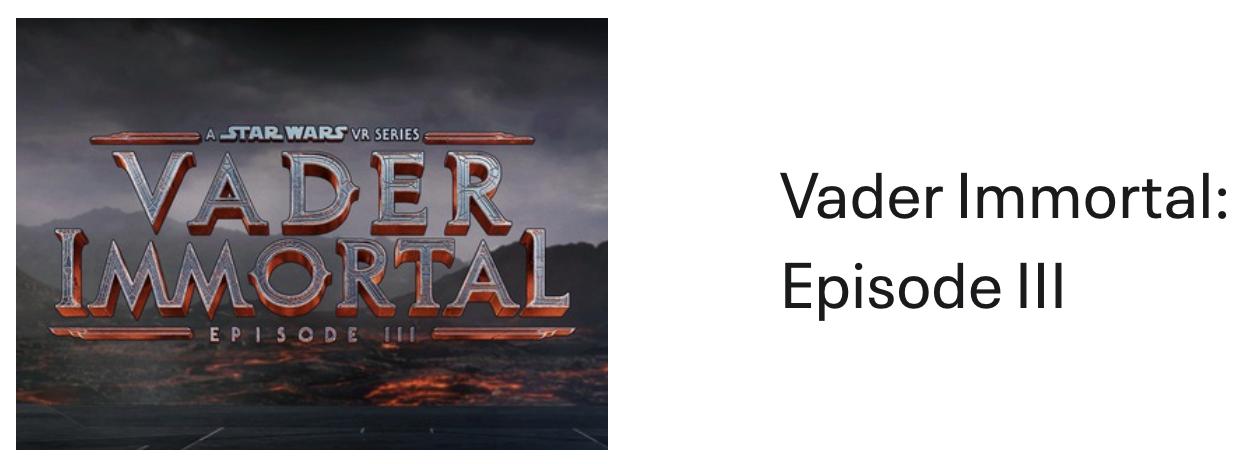 Vader Immortal: III