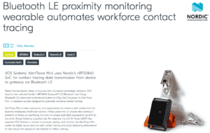 AlertTrace Pairs with Nordic Semiconductor