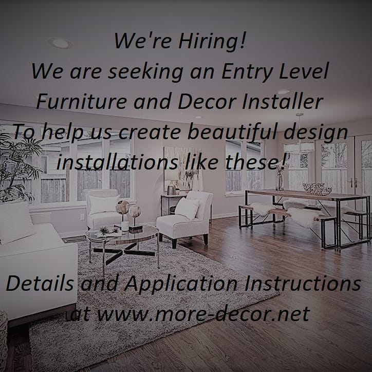 Career Opportunity at More Decor