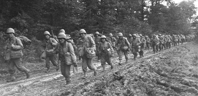 Japanese American soldiers in eastern France, 1944 (U.S. Army Signal Corps photo)