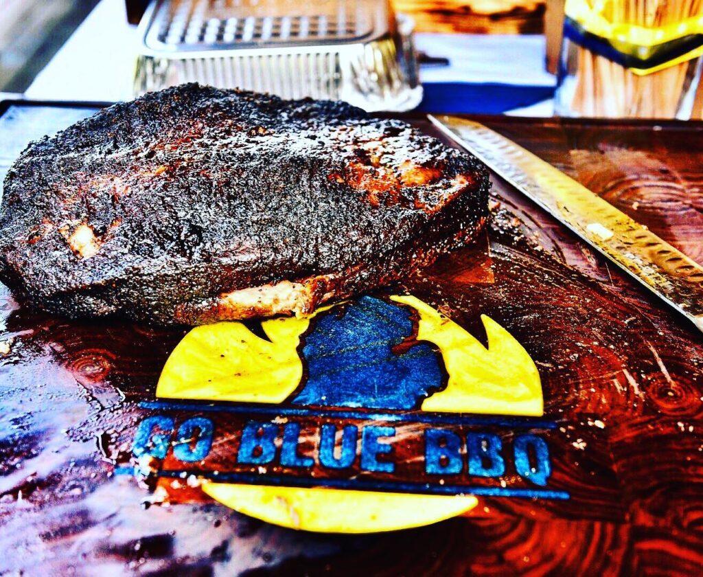 Go Blue BBQ Rosewood Block