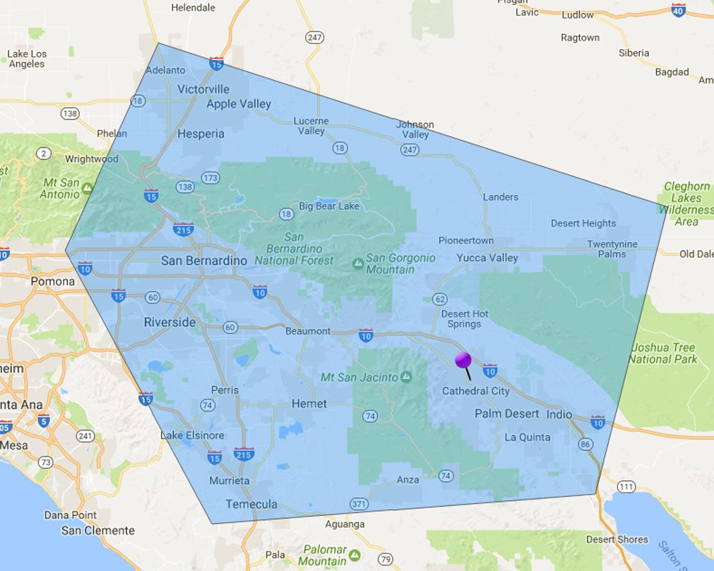 Service Areas San Bernardino