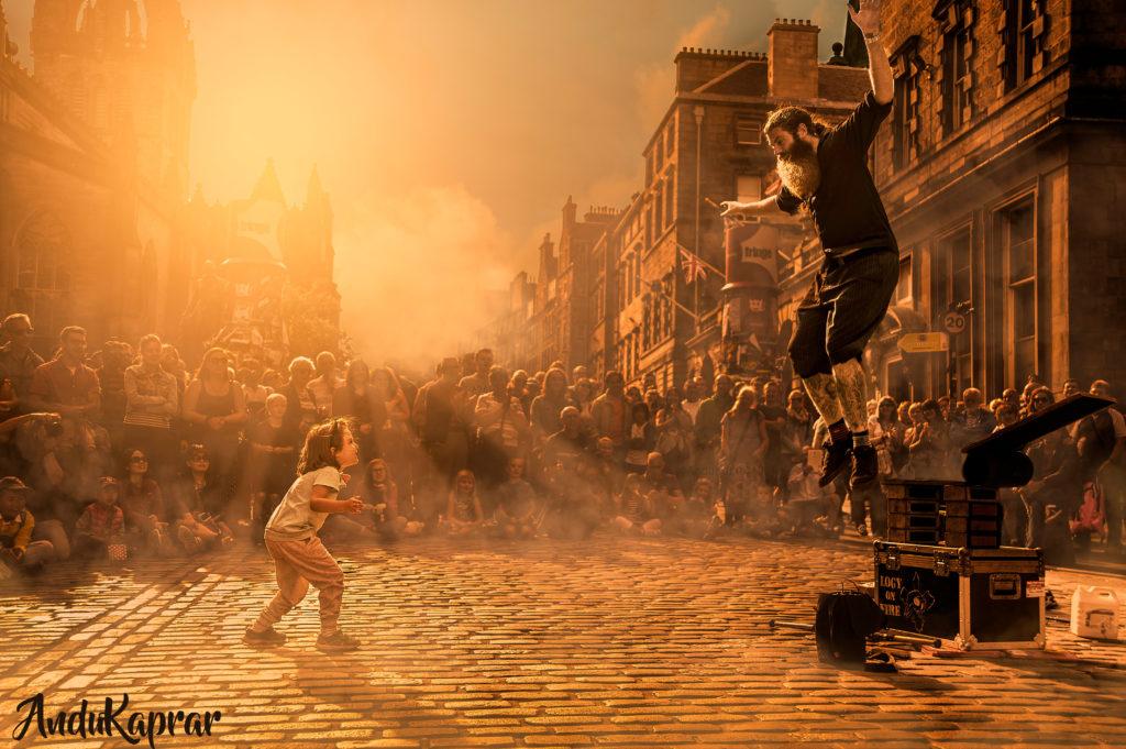 Street show in Edinburgh Scotland 2017
