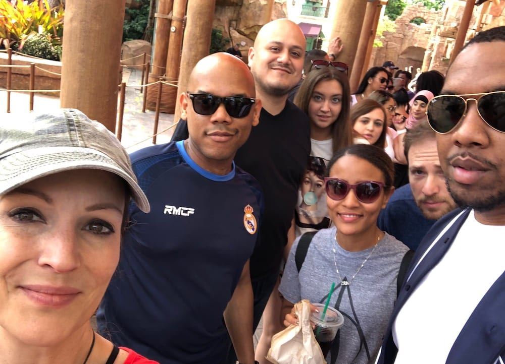 LNE Consulting Management Team at Theme Park