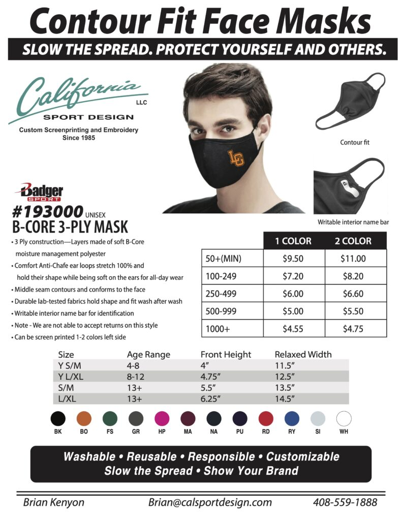 Calsport mask flyer