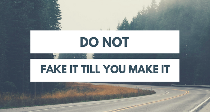 Don't Fake it till you make it. Do this instead. 1 powerful mindset hack!