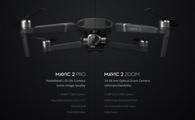 DJI Mavic 2 zoom Pro comparison
