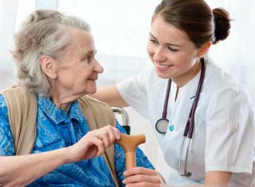 Elderly Patient with Nurse