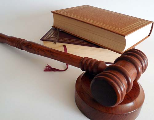 law books and gavel