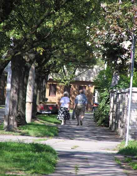 elderly couple entering New Jersey nursing home