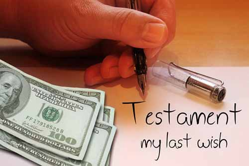man writing last will and testament