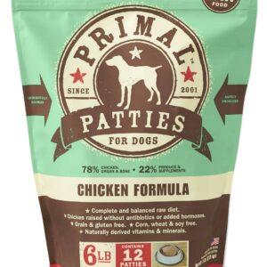 Primal 6lb Canine Chicken Formula Patties