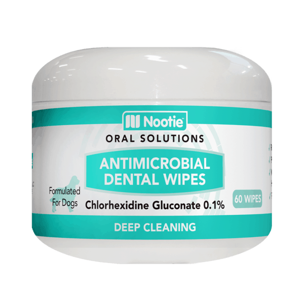 Nootie Antimicrobial Dental Wipes for Dogs – 60 Wipes 1