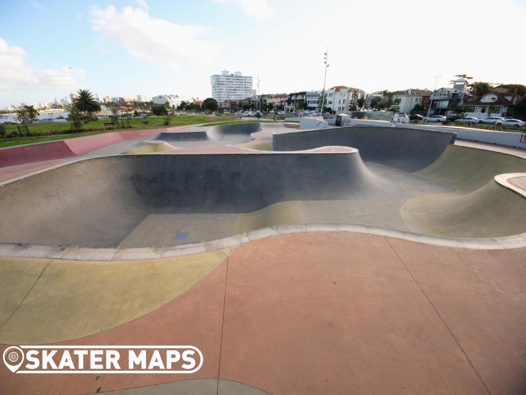 St Kilda Skatepark, St Kilda Beach Melbourne Vic Australia Skate Parks