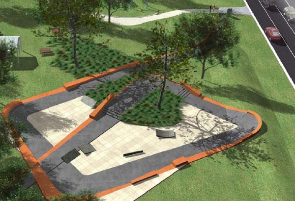 Rosebud Skatepark Design 3d