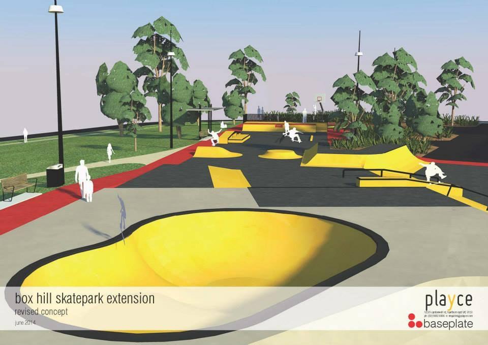 box hill skatepark upgrade design