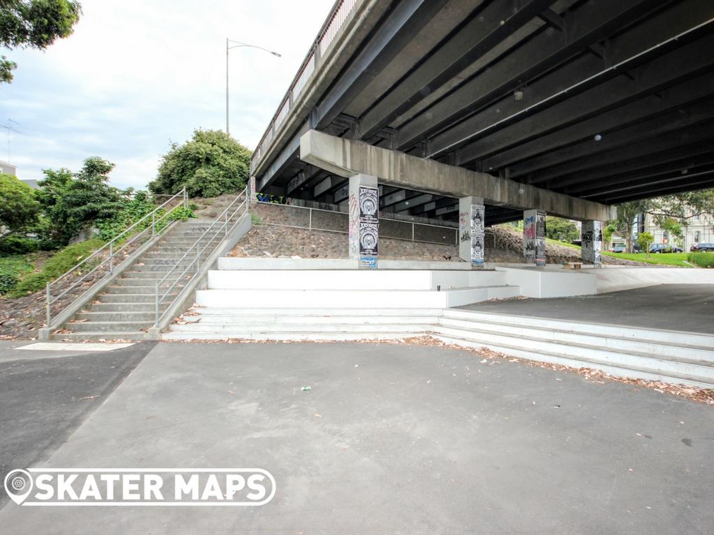 North Melbourne Skatepark, Northbank