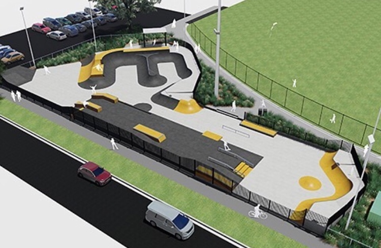 Plan Drawing Bentleigh East Skate Park