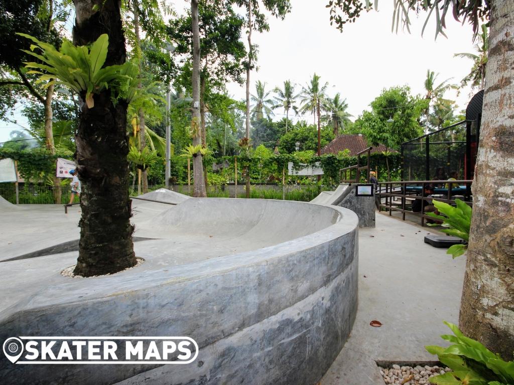 Blue Bear Skateboard Park Ubud Bali