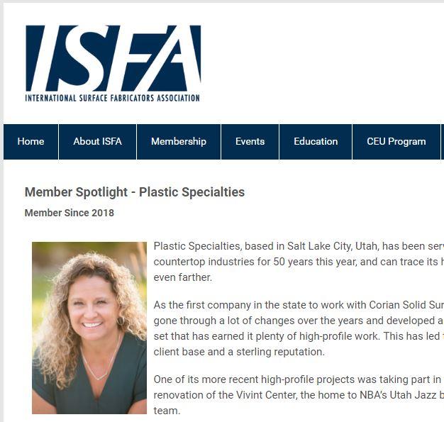 Kelly Pehrson Passey Member Spotlight  ISFAnow.org 08/2018
