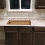White Laminate Countertop Sink