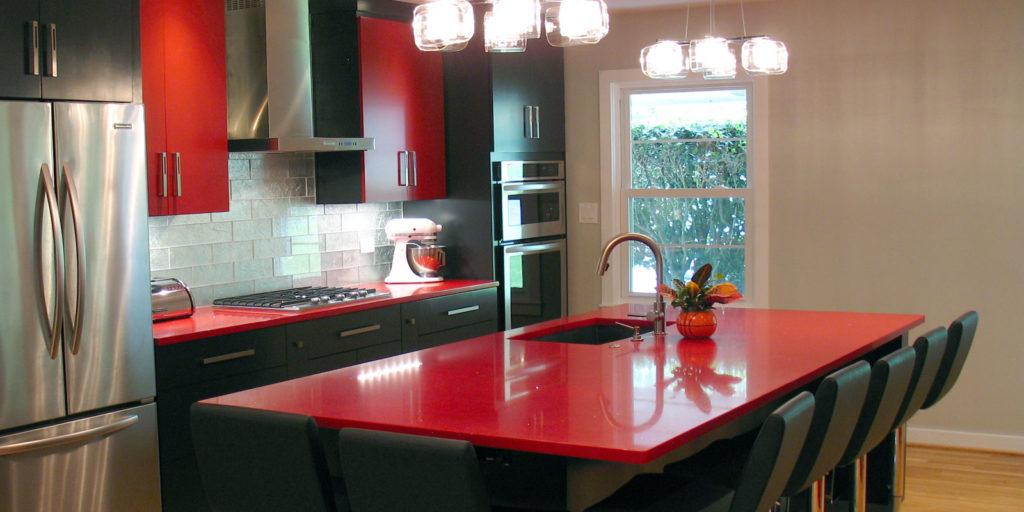 Red Intermezzo Kitchen Countertop