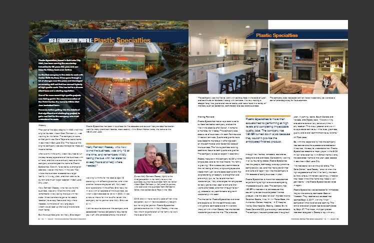 """Full Article -  """"Countertops & Architectural Surfaces Magazine"""" 2018. (pgs 24-26)"""