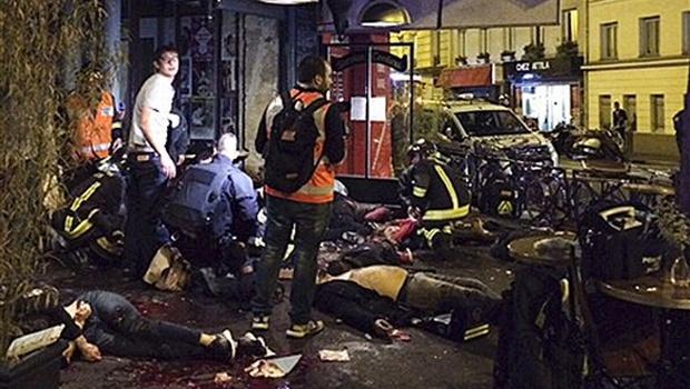 paris attack scene