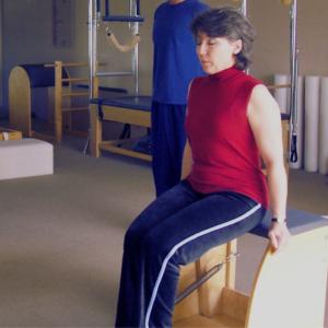 Lynne Dusenberry Pilates session