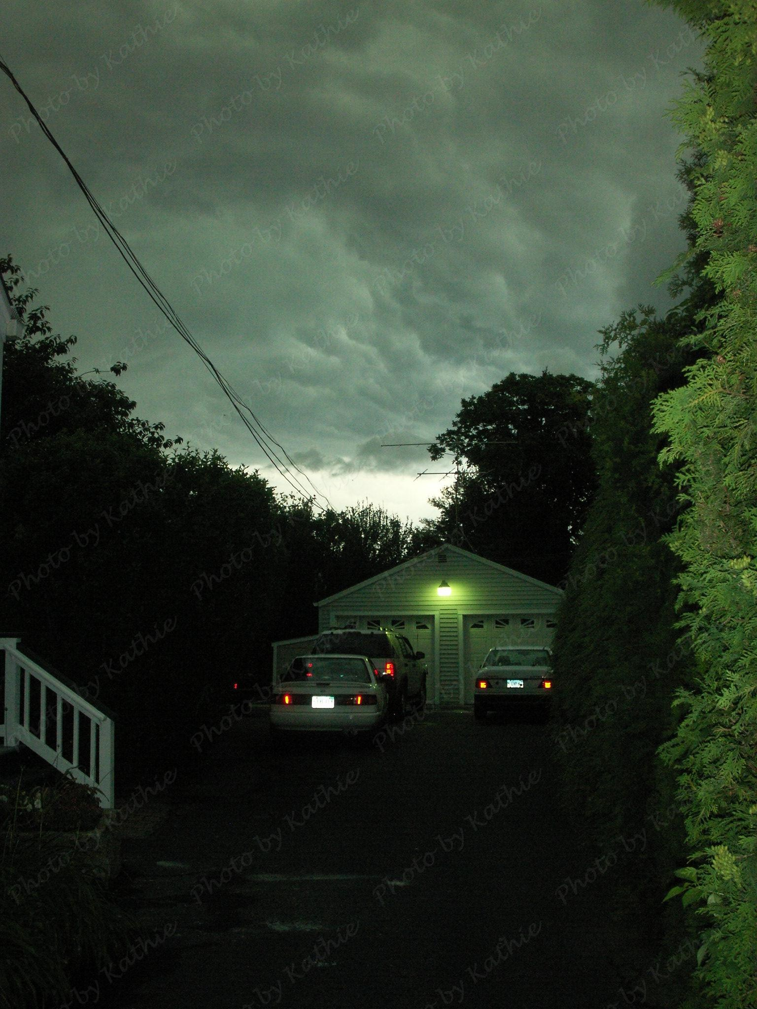 """Dark sky at 6:20PM, 6/26/2009 - It got dark very quickly. It was scary! Especially """"when you are home alone""""."""